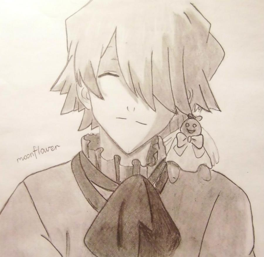 How to draw Zarksis Breyk from an anime Pandora's Heart with a pencil