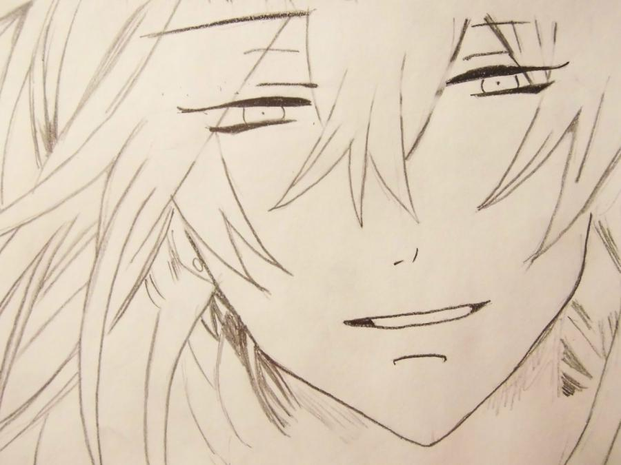 How to draw Sebastian Mikaelis from the Dark butler with a pencil 4