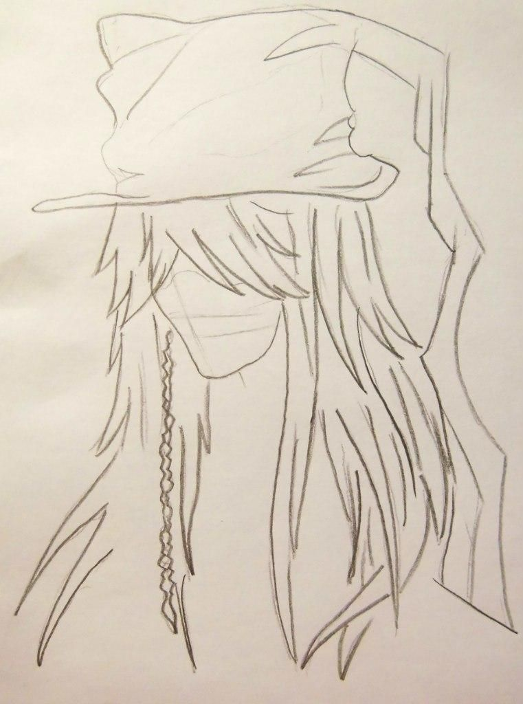 How to draw Siel Fantomkhayv from the Dark butler with a pencil 3