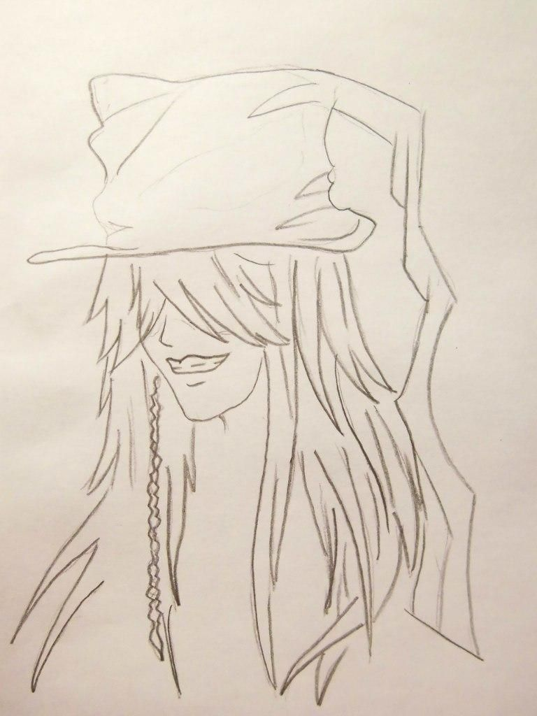 How to draw Siel Fantomkhayv from the Dark butler with a pencil 4