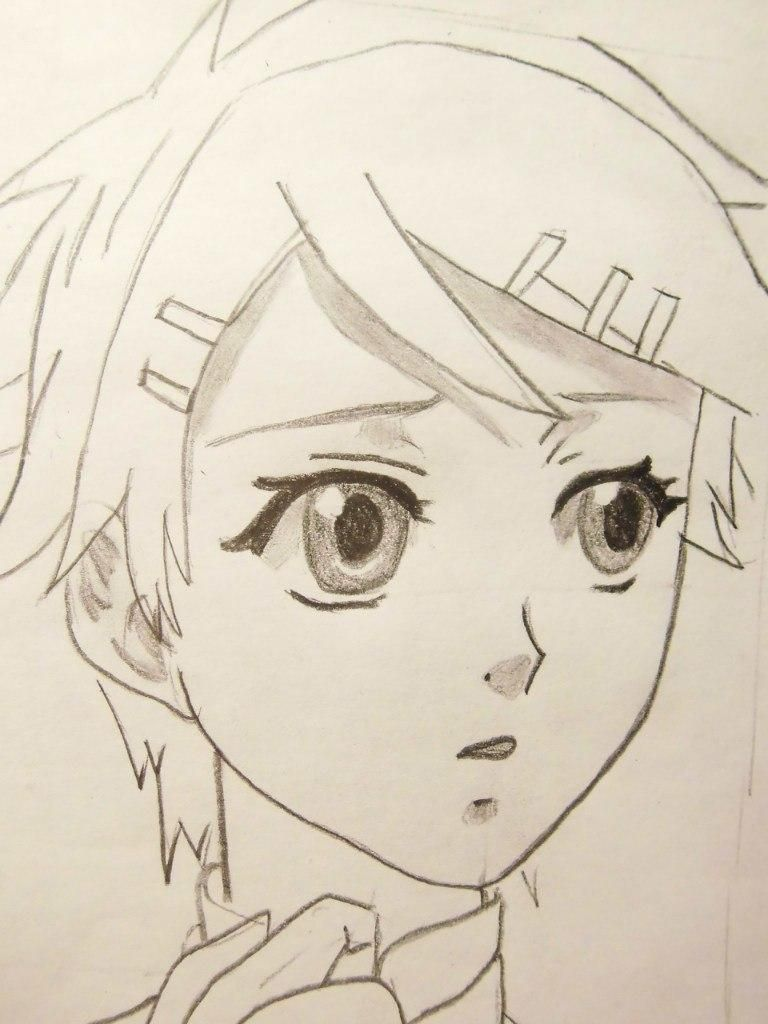 How to draw Hayato Gokuder from an anime Reborn with a pencil 6
