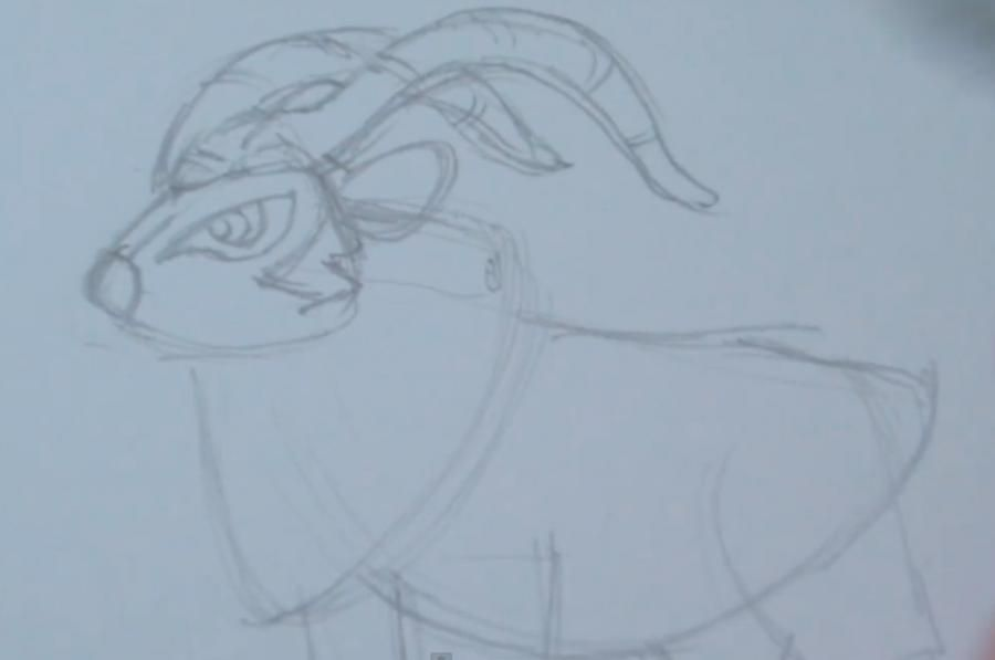 How to draw the Pokemon Noyvern from Pok?mon X and Y pencil step by step 2