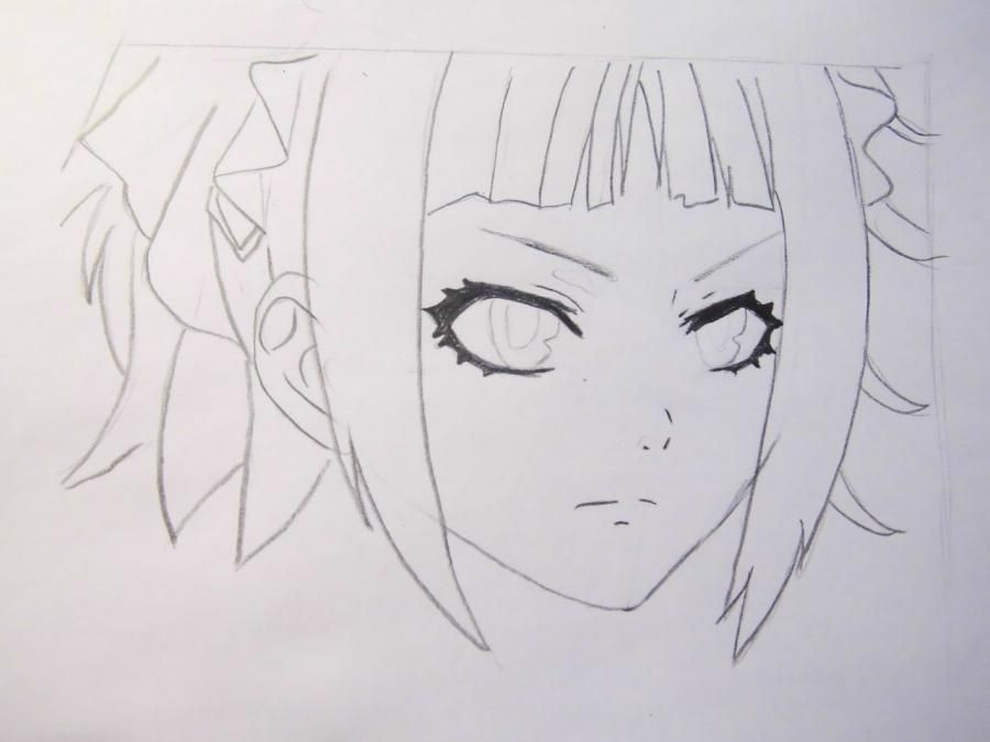 How to draw Dokuro's Chrome from an anime Reborn with a pencil step by step 4