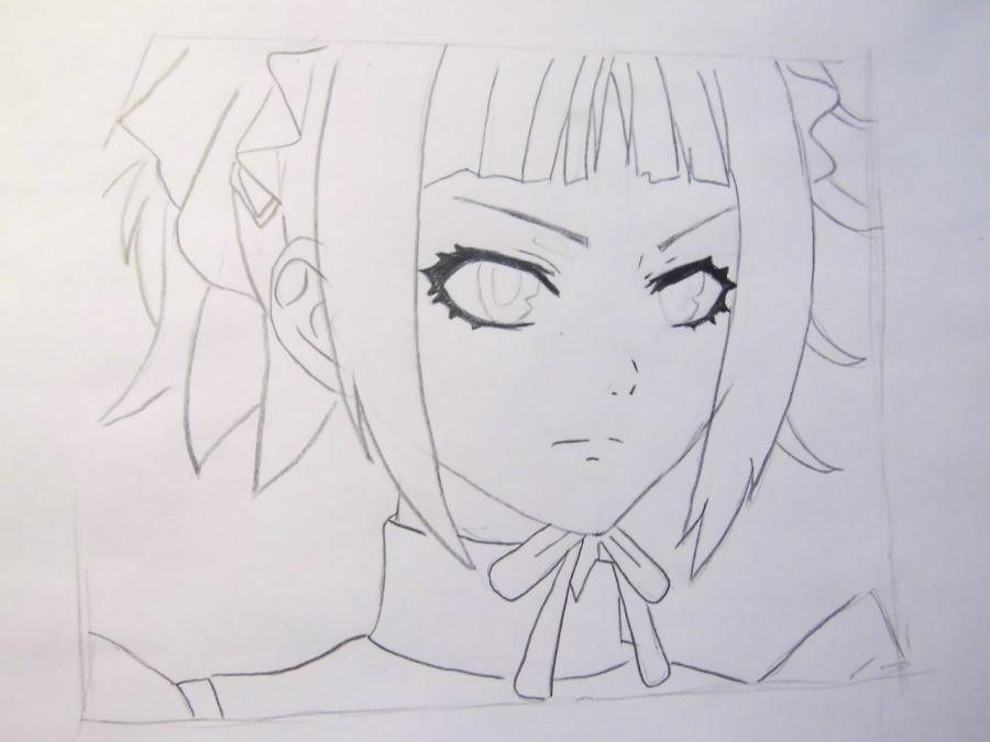 How to draw Dokuro's Chrome from an anime Reborn with a pencil step by step 5