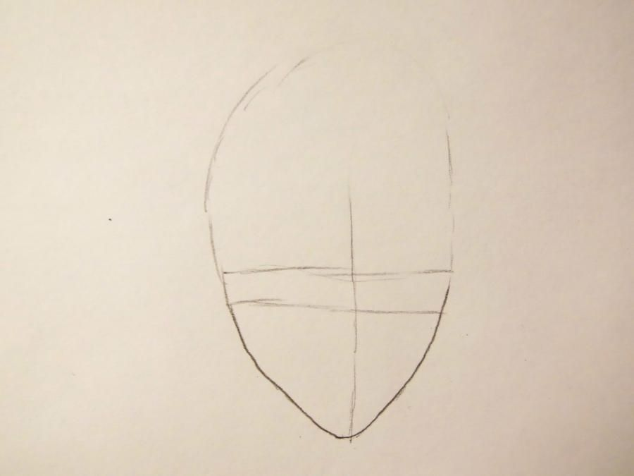 How to draw Ryokheya Sasagava from Reborn with a pencil step by step 2