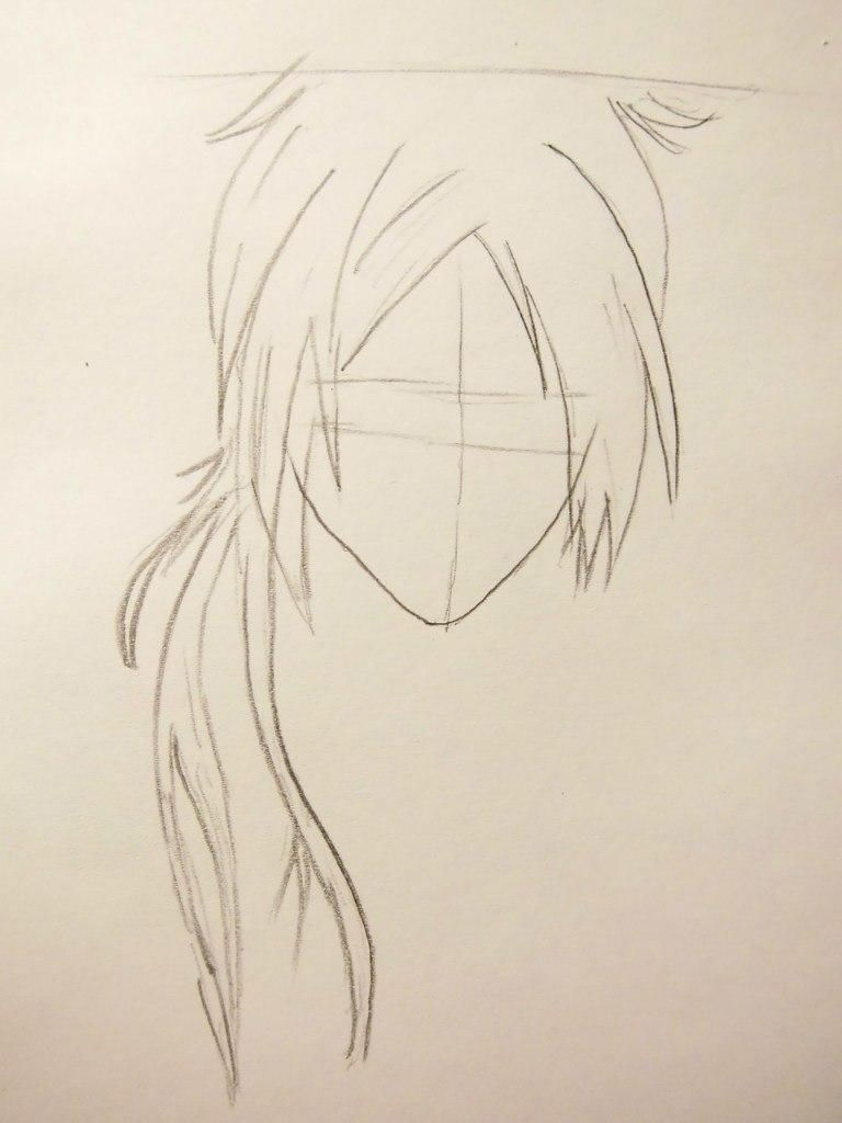 How to draw Ryokheya Sasagava from Reborn with a pencil step by step 3