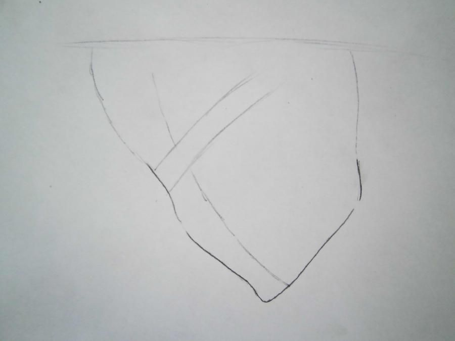 How to draw Tsunayosi Savad from an anime of Reborn with a pencil 2