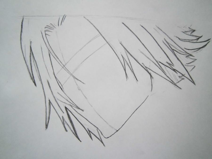 How to draw Tsunayosi Savad from an anime of Reborn with a pencil 3