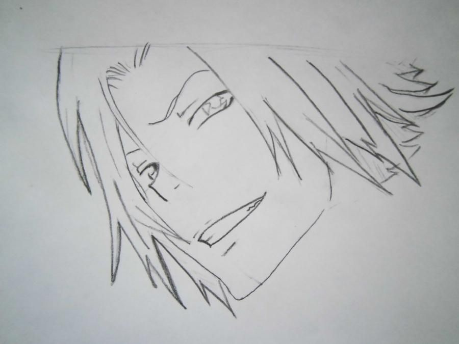 How to draw Tsunayosi Savad from an anime of Reborn with a pencil 4