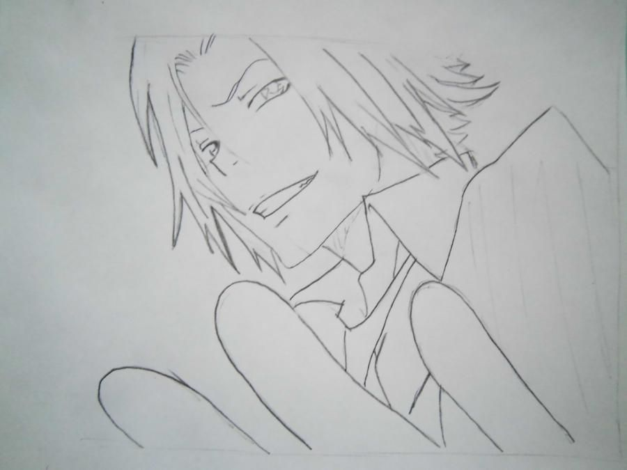 How to draw Tsunayosi Savad from an anime of Reborn with a pencil 5