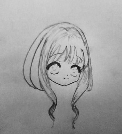 How to draw Gumi Megpoid from Vokaloidov with a pencil step by step 4