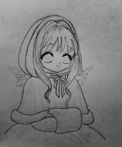 How to draw Gumi Megpoid from Vokaloidov with a pencil step by step 5