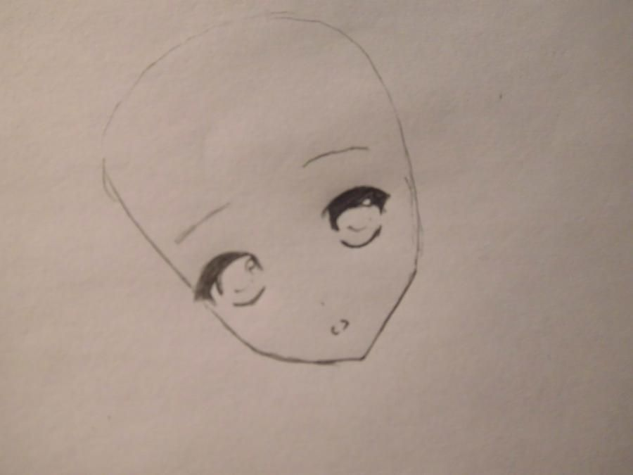 How to draw Nia from an anime Death Note with a pencil step by step 3