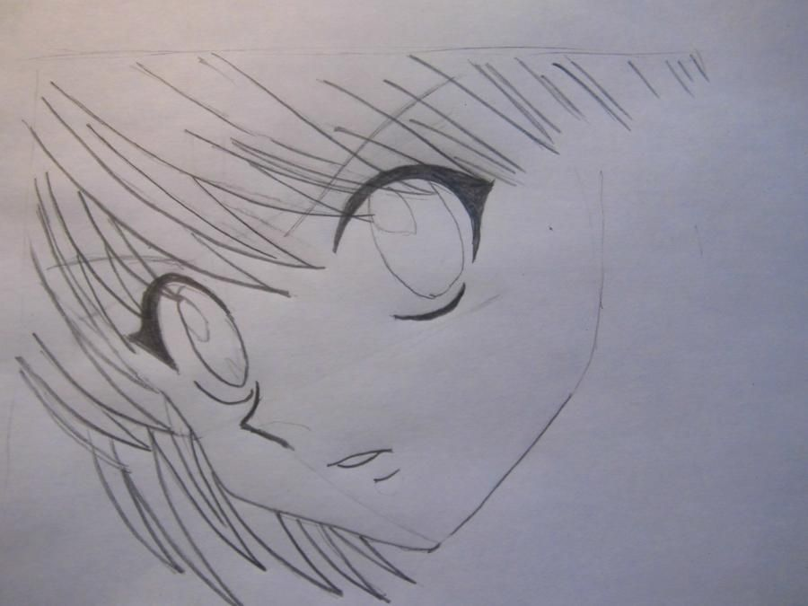 How to draw L of Death Note a pencil step by step 4