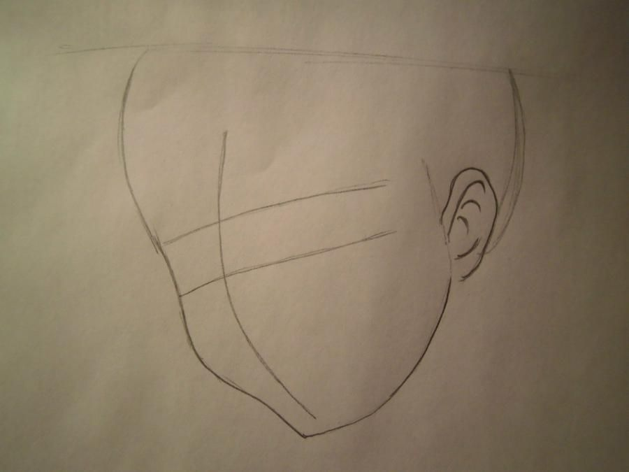 How to draw Yasutor Sado from an anime Blich with a pencil step by step 2