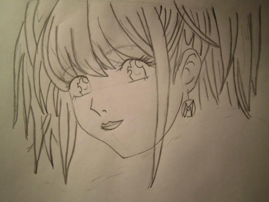 How to draw Yasutor Sado from an anime Blich with a pencil step by step 4