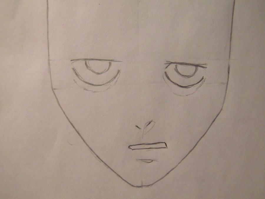 How to draw to Ur Isida from an anime Blich step by step 3