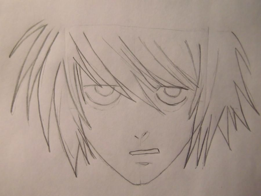 How to draw to Ur Isida from an anime Blich step by step 4