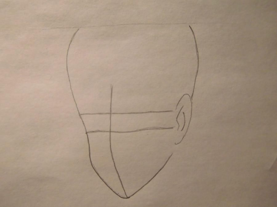 How to draw Orikhim Inoue from Blich with a pencil step by step 2