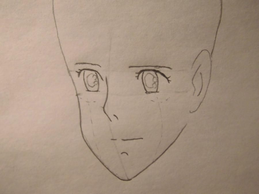 How to draw Orikhim Inoue from Blich with a pencil step by step 3