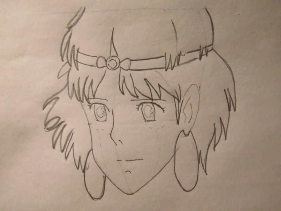 How to draw Orikhim Inoue from Blich with a pencil step by step 4