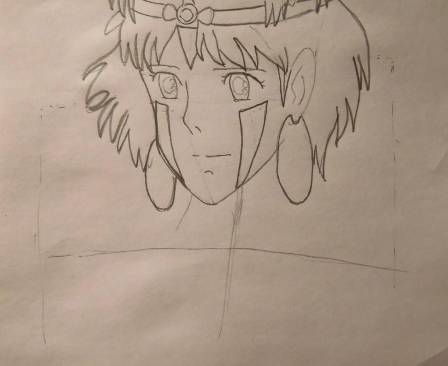 How to draw Orikhim Inoue from Blich with a pencil step by step 5