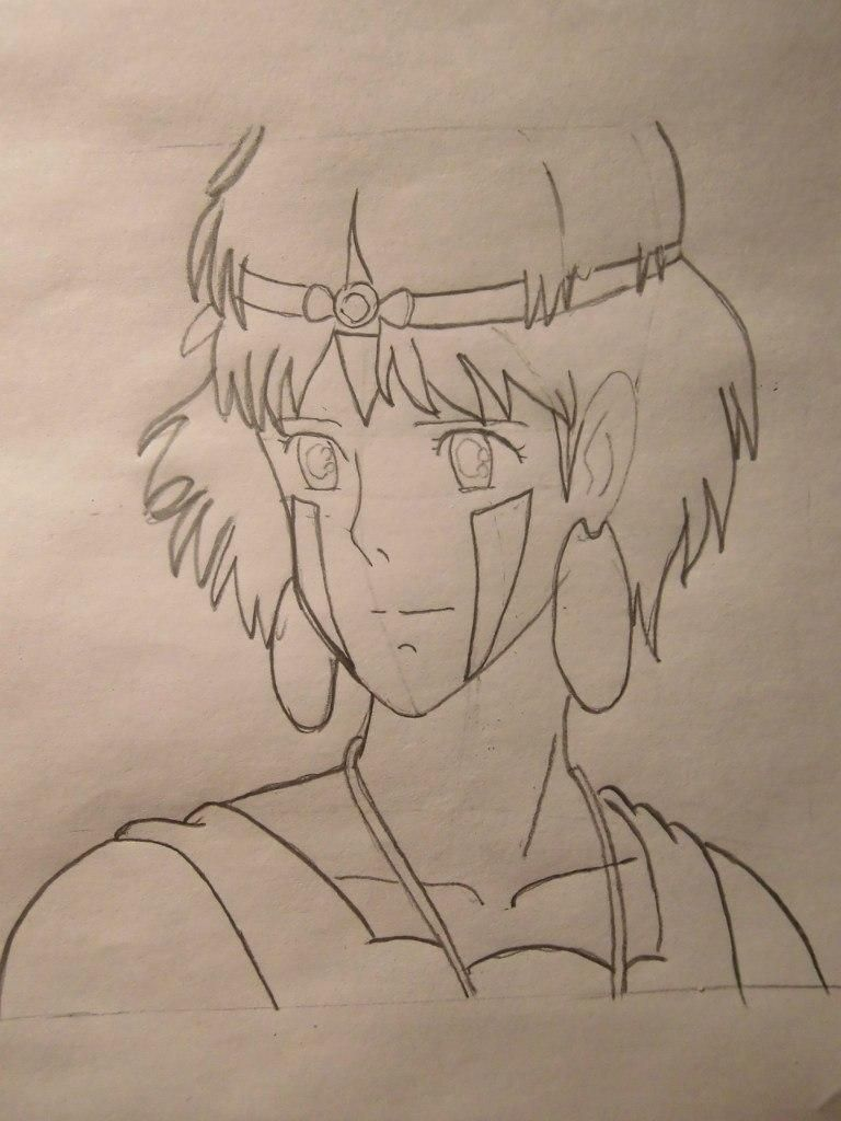 How to draw Orikhim Inoue from Blich with a pencil step by step 6