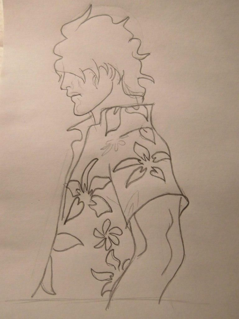 How to draw a portrait of Kakasi Hatake from Naruto with a pencil step by step 5