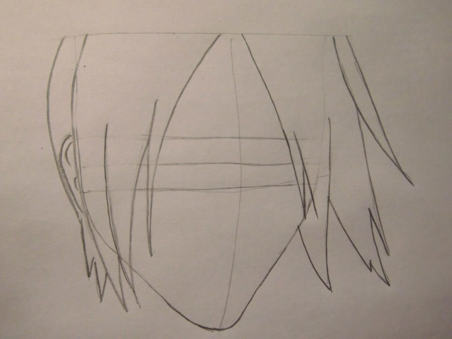 How to draw a portrait Sask of Uchikh from Naruto step by step 3