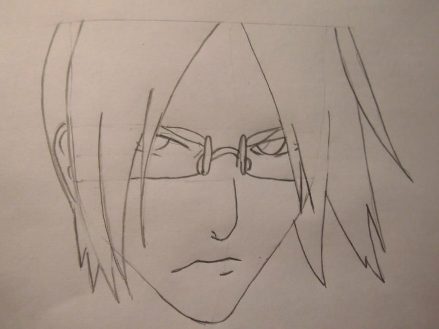How to draw a portrait Sask of Uchikh from Naruto step by step 4