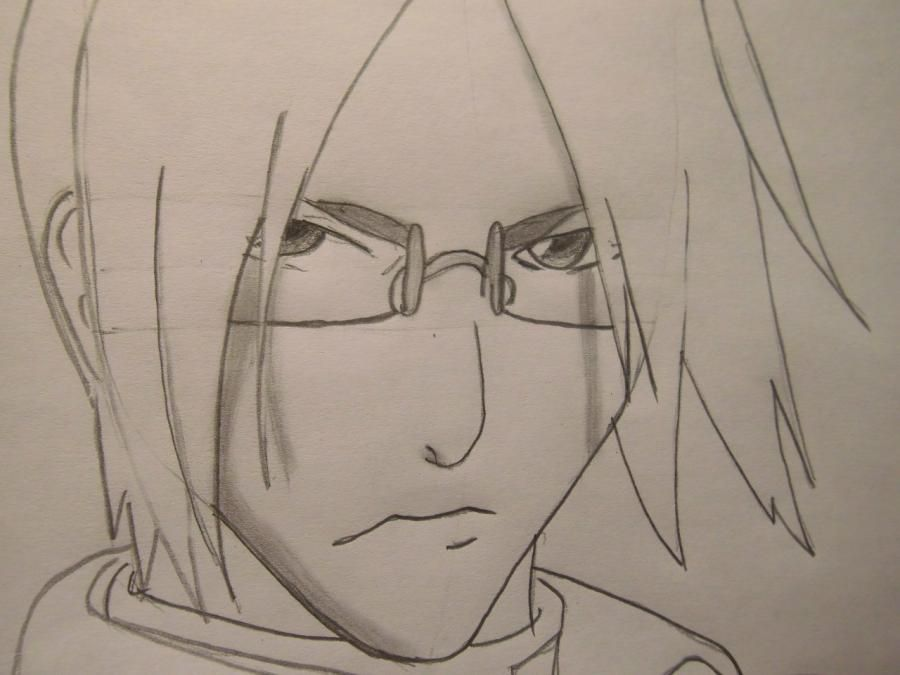 How to draw a portrait Sask of Uchikh from Naruto step by step 6