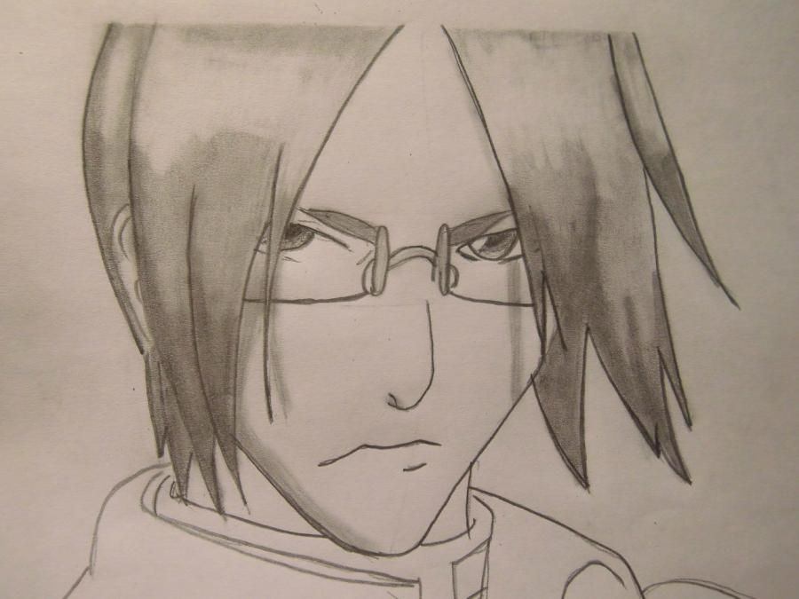 How to draw a portrait Sask of Uchikh from Naruto step by step 7
