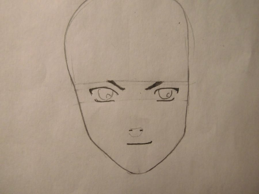 How to draw Hige from the Wolf rain with a pencil step by step 3