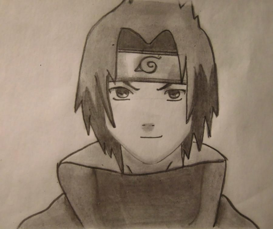 How to draw a portrait Sask of Uchikh from Naruto step by step