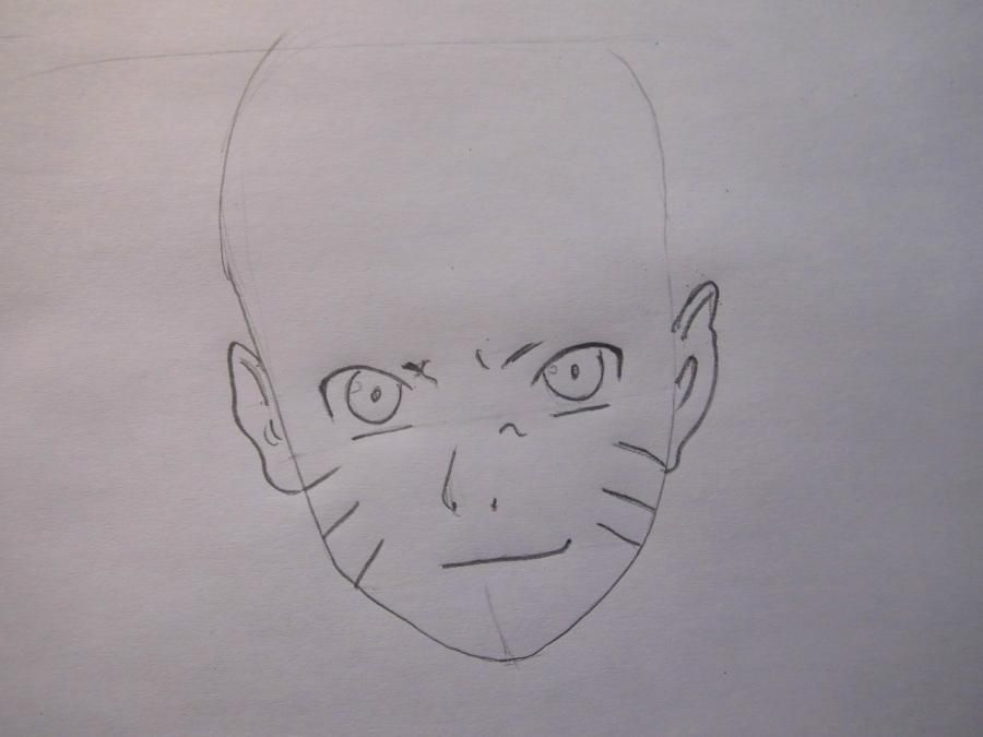 How to draw Tsume from the Wolf rain with a pencil step by step 3