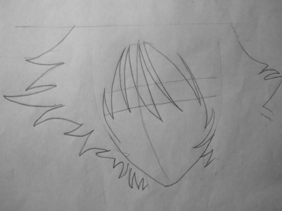 How to draw Ayro from an anime of Avatars with a pencil step by step 3