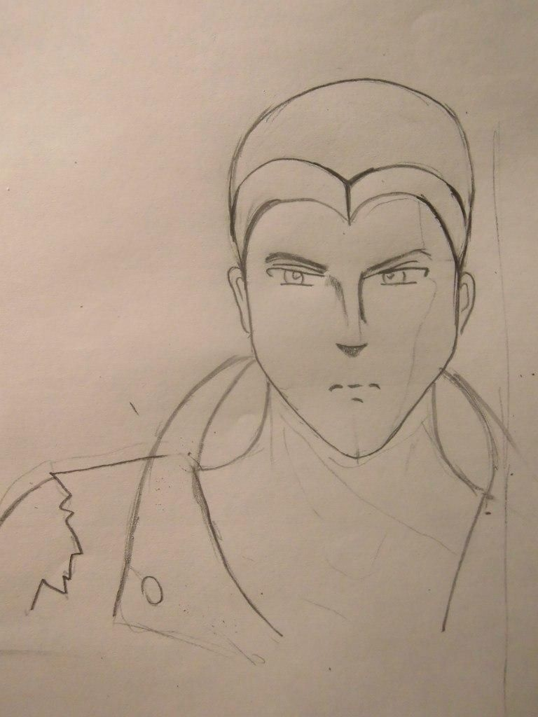 How to draw Sokk from Avatars with a pencil step by step 4