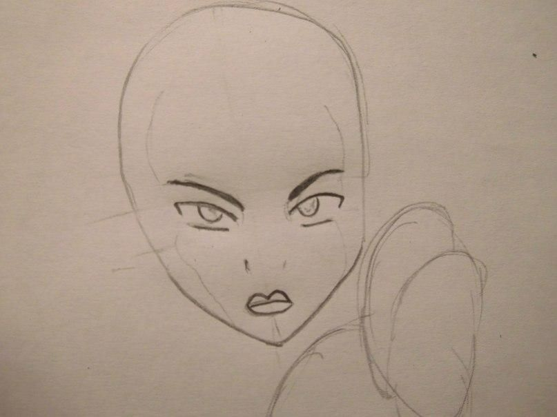 How to draw Aanga from Avatar:legend about Aange step by step 3