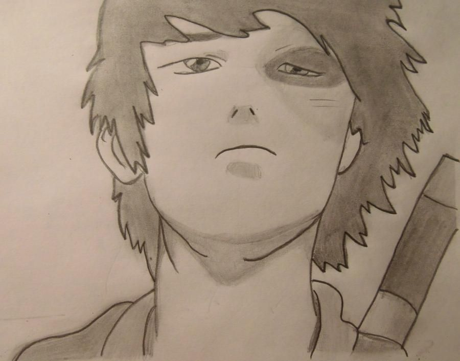 How to draw Zuko from Avatars: legend of Aange pencil step by step