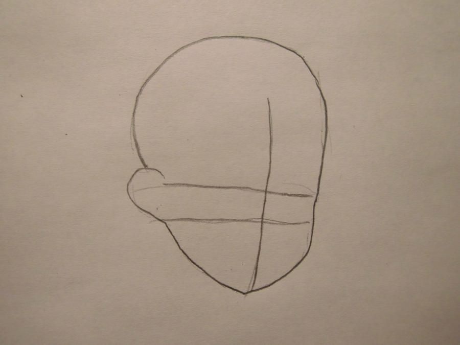How to draw James from Pokemons with a pencil step by step 2