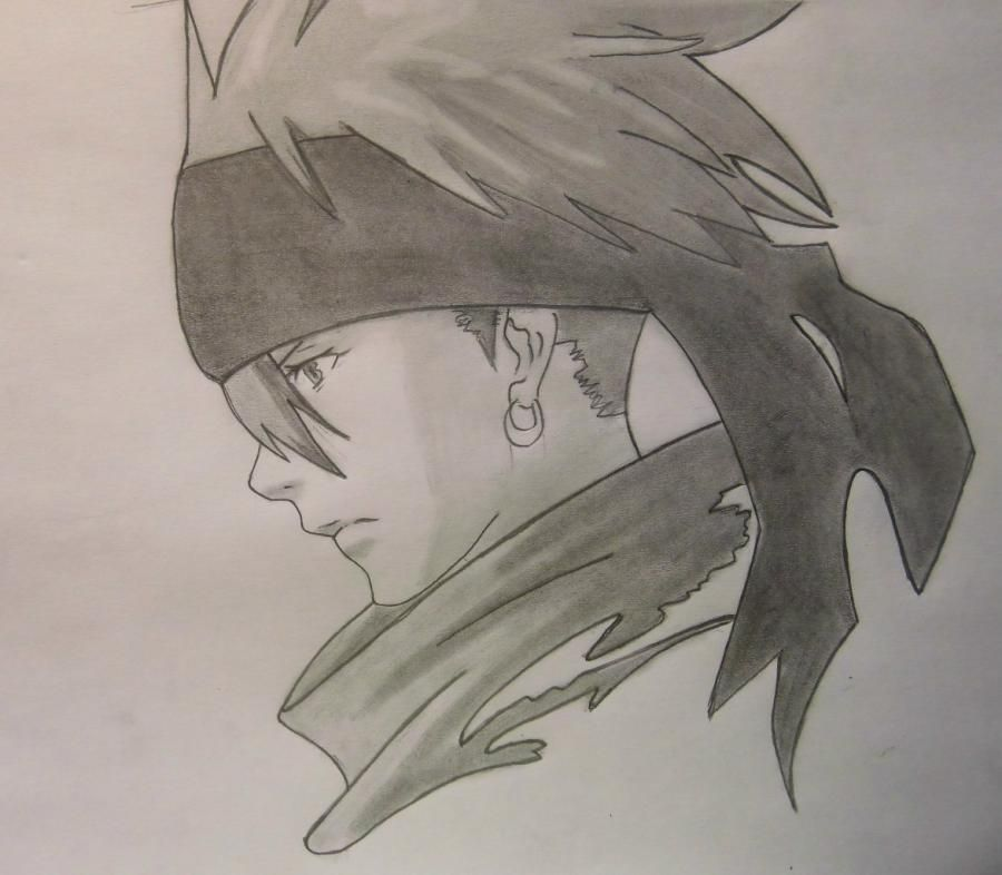 How to draw Lavi from Dee's anime. Gray - exchanges by a pencil step by step