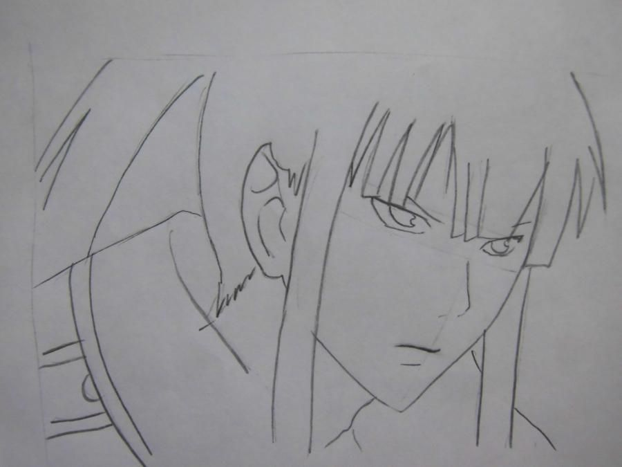 How to draw Sanka Ray from Sankarea with a pencil step by step 5