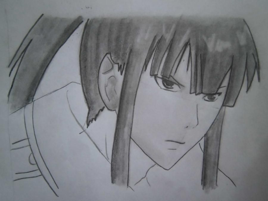 How to draw Sanka Ray from Sankarea with a pencil step by step 7
