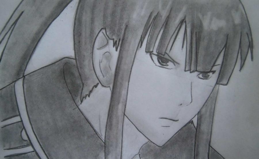 How to draw Sanka Ray from Sankarea with a pencil step by step 8
