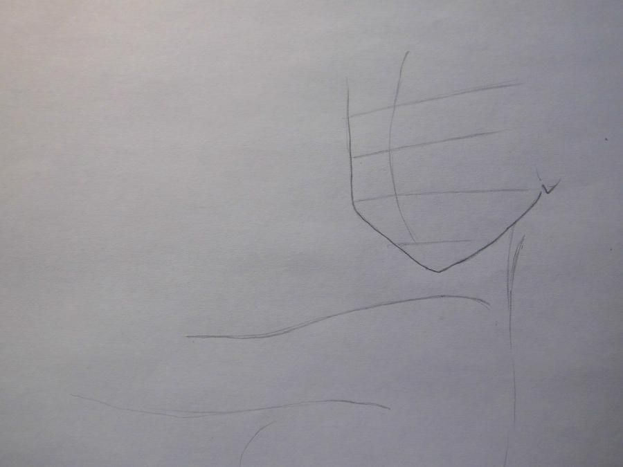 How to draw Charlie (Sharli) from Fairy Tail with a pencil step by step 2