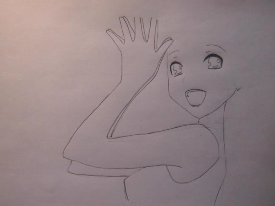 How to draw Charlie (Sharli) from Fairy Tail with a pencil step by step 4