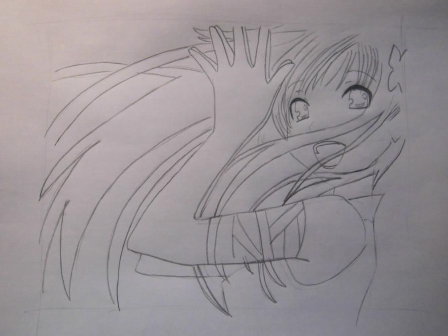 How to draw Charlie (Sharli) from Fairy Tail with a pencil step by step 6