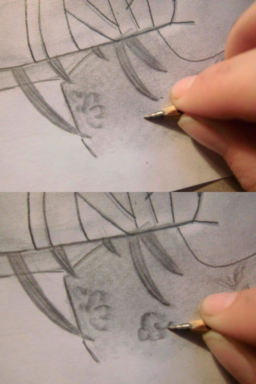 How to draw Charlie (Sharli) from Fairy Tail with a pencil step by step 10