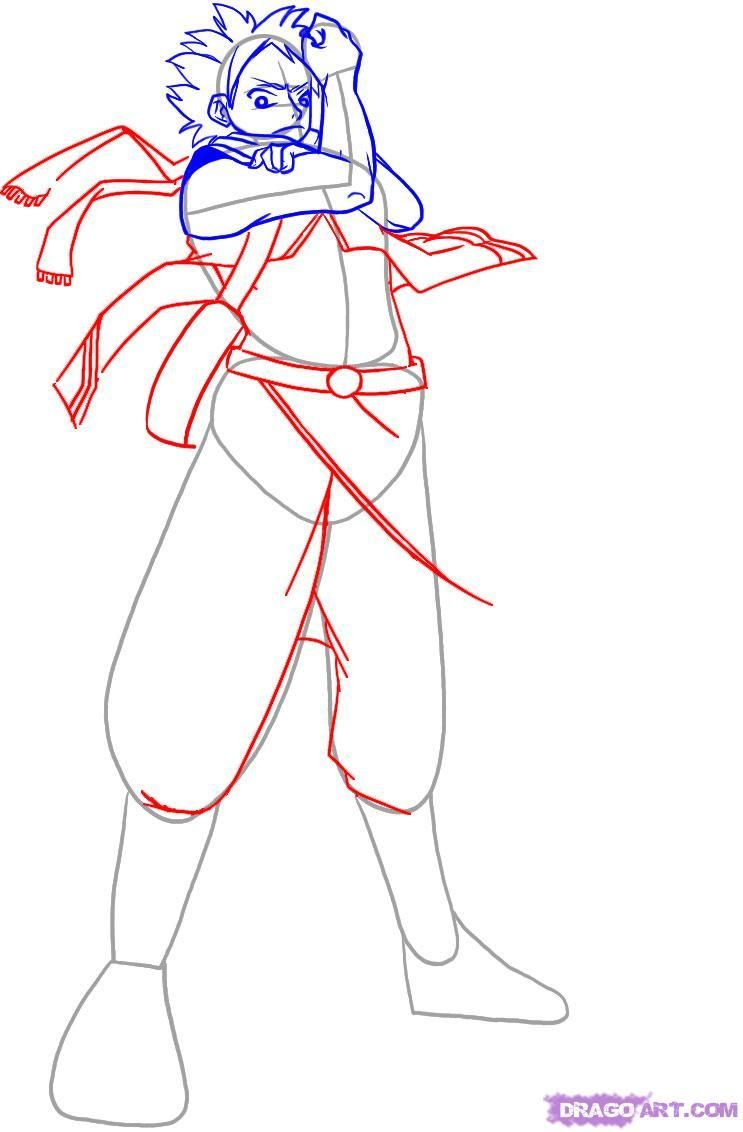 How to draw Elza Scarlet from Fairy Tail step by step 5