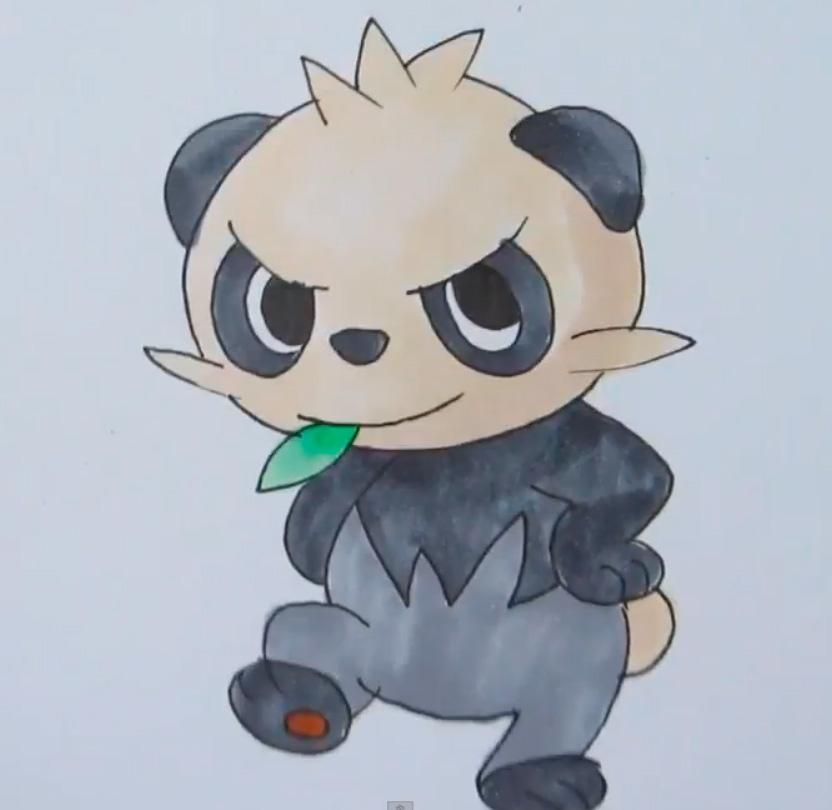 Comme dessiner Pantchama (Pancham) de Pokemon X and Y progressivement